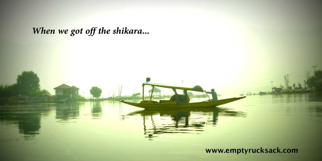 Kashmir Shikara Travelogue