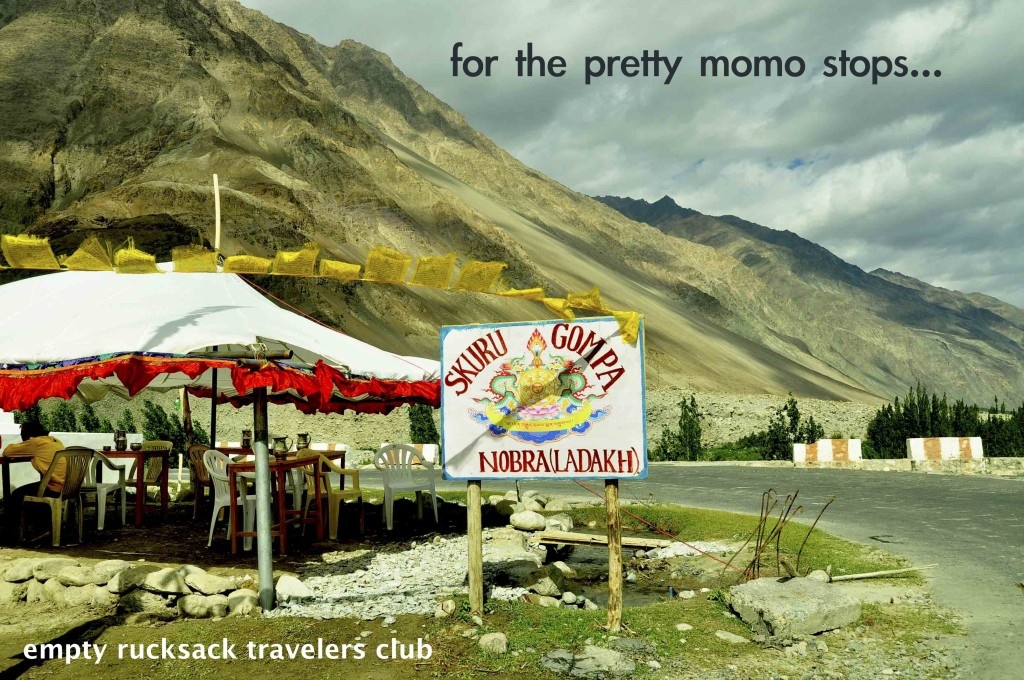 Restaurant, mountains, momo stop, way to turtuk, empty rucksack, ladakh