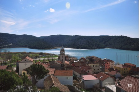 View of Skradin from Turina Fortress